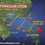 Typhoon Utor alert triggers cancellation of travel services in China