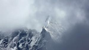 Snowstorm in Himalayas