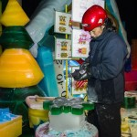 Artisans Sculpt 8 Million Pounds of Colorful Ice at Gaylord Hotels