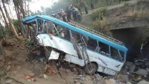 38 dead as a bus fell in the river of mountain area of Ethiopia