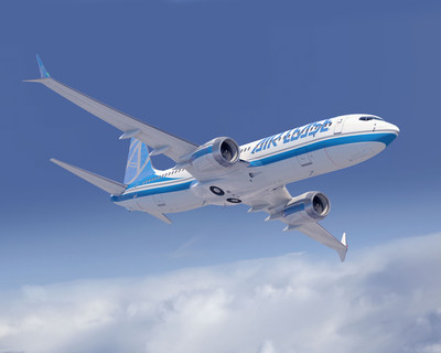 Boeing [NYSE:BA] and Air Lease Corporation (NYSE: AL) (ALC) announced they have finalized an order for eight more 737 MAX 8 airplanes, valued at $936.8 million at list prices. The airplane is seen here in an artist's rendering. (Boeing illustration) (PRNewsfoto/Boeing,Air Lease Corp.)