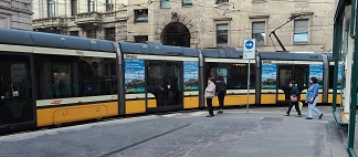 May 2018 - Millions of commuters in Milan are seeing eye-catching ads for Ireland on trams operating in the city. It's all part of Tourism Ireland's latest promotion in Italy, in conjunction with Aer Lingus, to highlight the island of Ireland for holidays and short breaks in 2018. The campaign includes eye-catching ads on 50 trams, as well as digital advertising. It is highlighting good value Aer Lingus fares from Milan to Dublin, to drive bookings for the coming months. Tourism Ireland aims to ensure as much visibility as possible for the island of Ireland during key booking periods for holidays and short breaks.  VISUAL SHOWS: Ireland ad on a tram in Milan. Further media information: Sinéad Grace, Tourism Ireland 087-685 9027