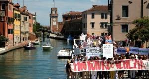 Venice anti tourism protest