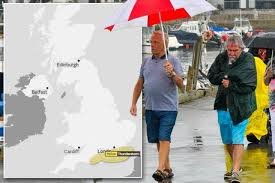 UK met office issues Yellow Warning