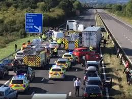 M5 motorway collision