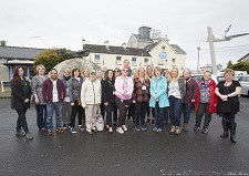 REPRO FREE 12/10/2018, Foynes, Co Limerick – A group of Canadian travel agents is exploring the island of Ireland – as guests of Tourism Ireland, Fáilte Ireland, Tourism NI and Air Canada. PIC SHOWS: Canadian travel agents at the Foynes Flying Boat Museum, with Sandra Moffatt, Tourism Ireland (left). Pic – Liam Burke, Press 22 (no repro fee) Further press info – Sinéad Grace, Tourism Ireland 087 685 9027