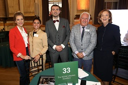REPRO FREE 03/10/2018, London – Tourism Minister Brendan Griffin joined Irish tourism enterprises in London this week, for Flavours of Ireland 2018. 'Flavours' is Tourism Ireland's annual B2B tourism workshop, where tourism companies from Ireland meet and do business with around 100 top UK inbound tour operators.  PIC SHOWS: Adela Skypalova and Rima Rodolfo, both Angela Shanley Associates Ltd; Tourism Minister Brendan Griffin; John Callely, The Dublin Liberties Distillery; and Joan O'Shaughnessy, Chairman of Tourism Ireland, at Flavours of Ireland 2018 in London. Pic – Martin Griffin, Lemonade Factory (no repro fee) Further press info – Sinéad Grace, Tourism Ireland 087-685 9027