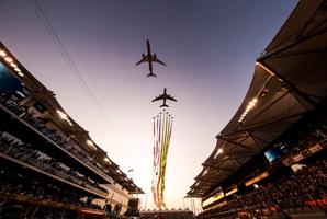 Etihad Airways performed a spectacular flyover at Yas Marina Circuit